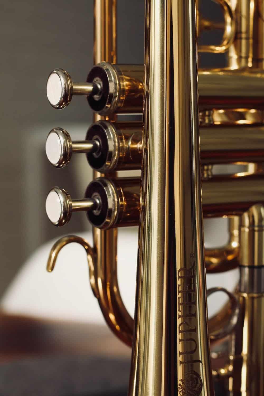 trumpet valves on trumpet shown for trumpet fingering chart comparison